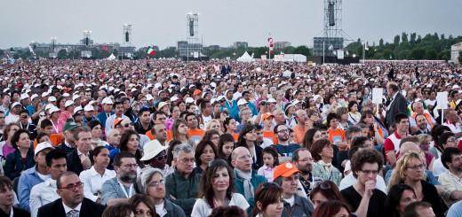 Papa Bendetto XVI a Bresso per il settimo incontro mondiale della famiglie